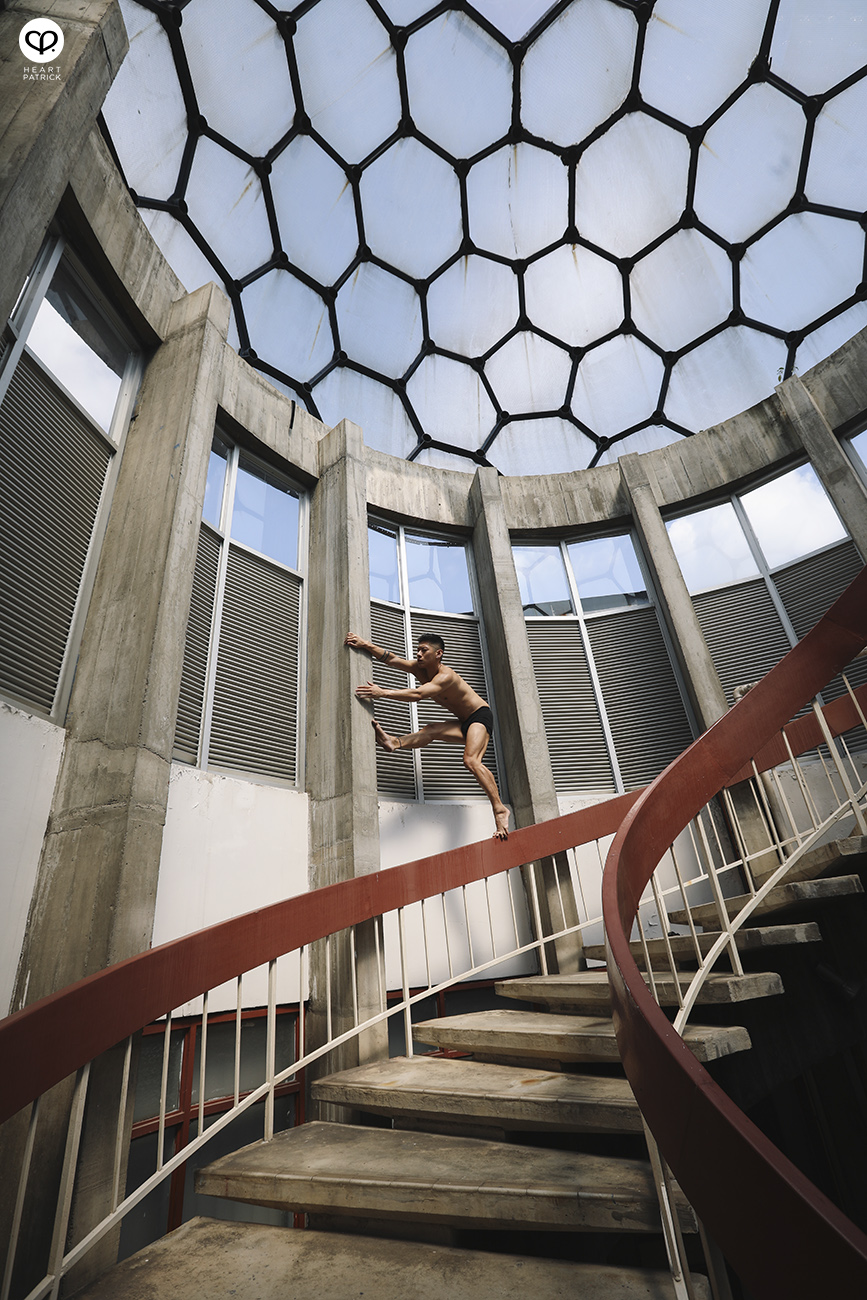 somethingaboutpatrick asianboy asianguy portrait dance spiral staircase
